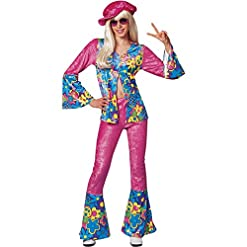 Girl's Flower Power Halloween Costume (Size: 14-16)