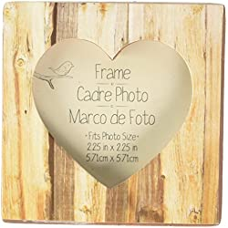 "Kate Aspen ""Rustic Romance"" Faux Wood Heart Place Card Holder/Photo Frame"