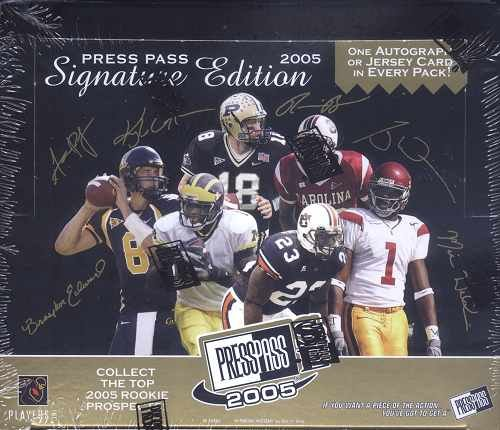 (2005 Press Pass Signature Football Cards Unopened Hobby box - Aaron Rodgers Rookie Year!)