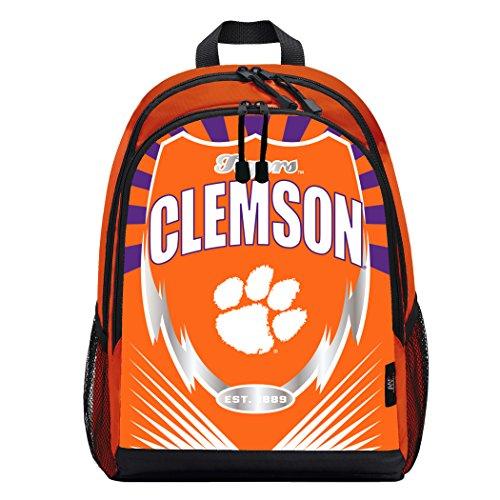 - Officially Licensed NCAA Clemson Tigers Lightning Kids Sports Backpack, Orange