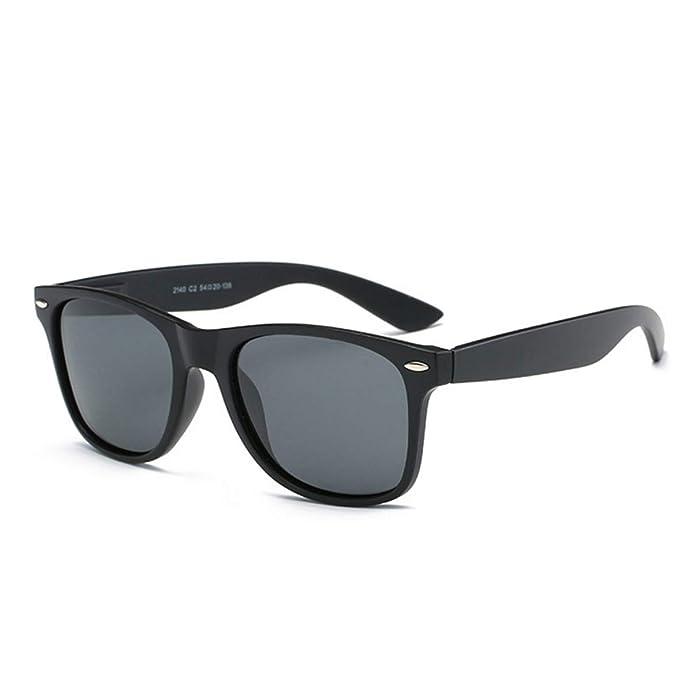 Gafas de sol polarizadas Mujeres Hombres niños Damas Unisex Protección UV400 Antideslumbrante con Estuche Gafas de sol de gran tamaño Retro Moda para ...