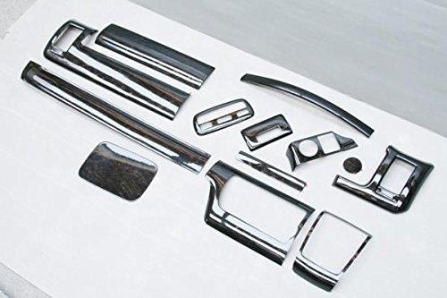 【ハイエース 200系 4型 ワイド 特別仕様車ダークプライム専用】 S-GL インテリアパネル 13p 黒木目マホガニー調 B06WWGYQ73