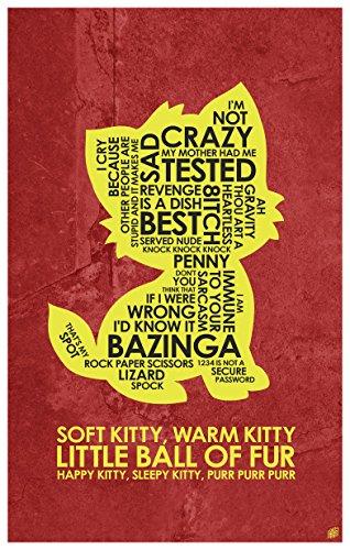 The Big Bang Theory. Soft Kitty, Warm Kitty Art Print Poster (12