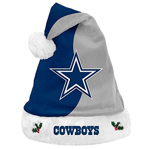 - Dallas Cowboys 2017 NFL Basic Logo Plush Christmas Santa Hat