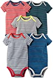 Carter's Baby Boys' Multi-PK Bodysuits 126g335, Mixed Stripes, 3 Months