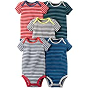 Carter's Baby Boys' Multi-Pk Bodysuits 126g335, Stripes, New Born