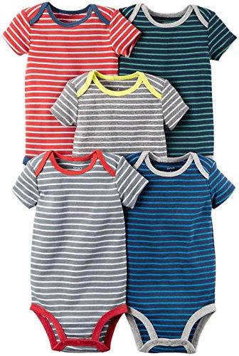 Carter's Baby Boys' Multi-pk Bodysuits 126g335, Stripes, New Born