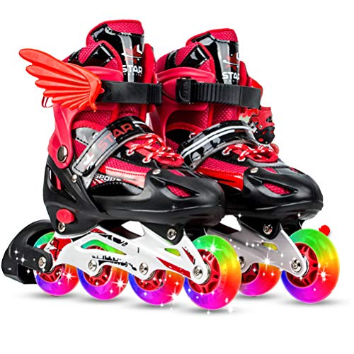 特定の精度メッセージインラインスケート ローラースケート 発光 メッシュ 通気性抜群 大人 キッズ 子供用 初心者向け ローラーシューズ