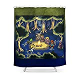 Society6 Chrono Trigger Camping Scene Shower Curtain 71'' by 74''