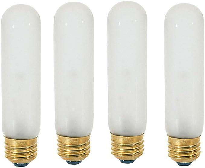 2 PK GE LIGHTING 40T10-120V Incandescent Light Bulb T10 40W R