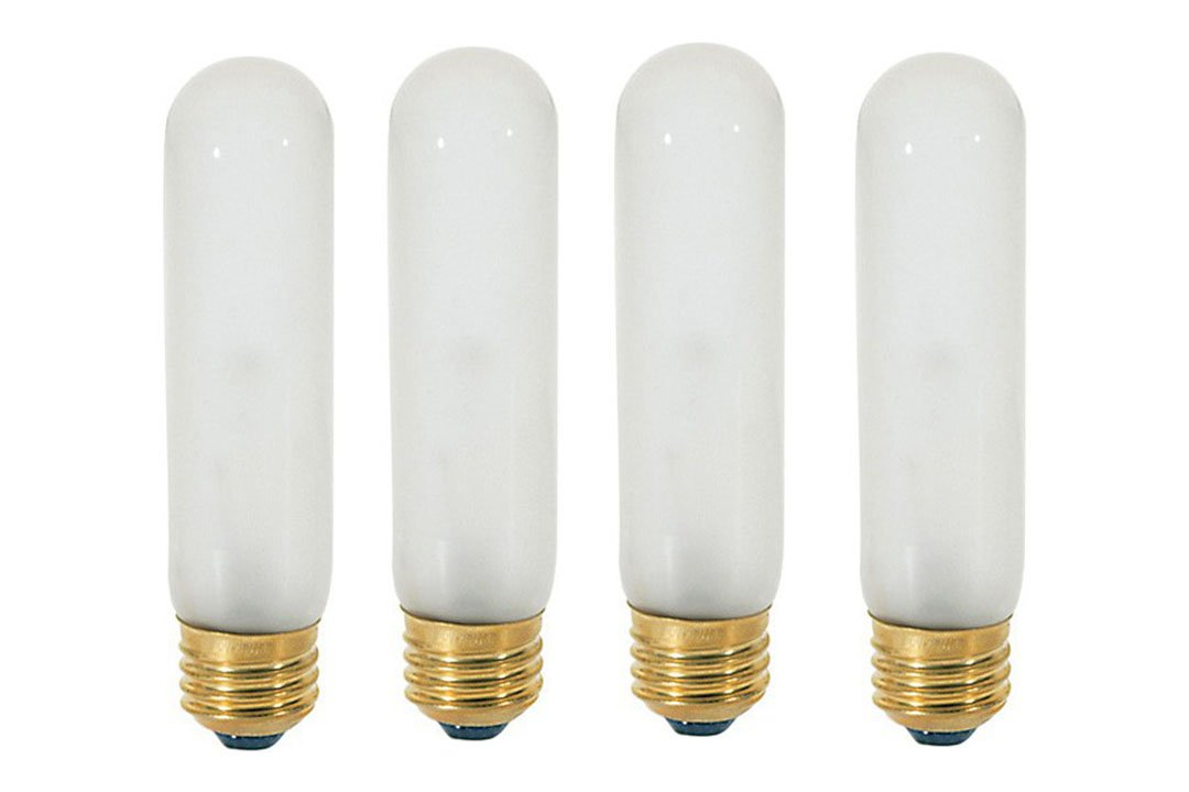 40T10/120V -Tubular - 120V - Medium (E26) Base - Incandescent Light Bulb (Frosted, 40 WATT-4 Pack)