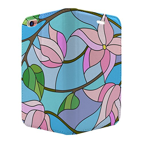 gebeizt Glas Blume Muster voller Flip Case Cover Für Apple iPhone 6–6S – S3550