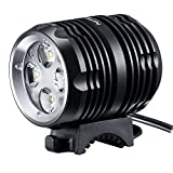 Revtronic 1600 Lumens Bike Light - Cree LED Bike Lights - Mountain Bike Headlight Bundle with 5200mAh Rechargeable Battery Pack, AC Charger