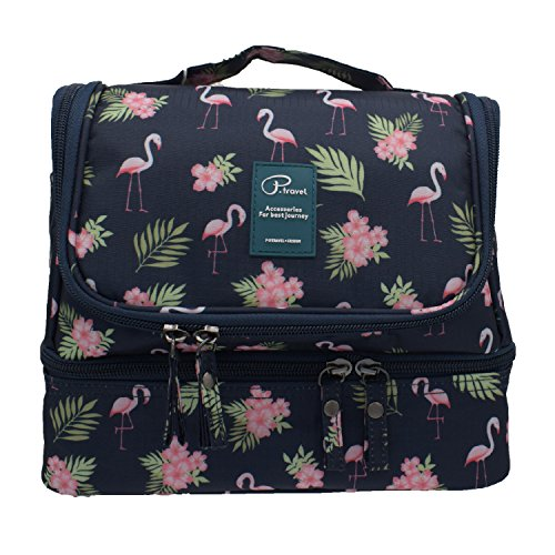 2004c2c61c87 Hanging Toiletry Bag Large Capacity Bathroom Storage Travel Wash Bag  Organizer Makeup Pouch Cosmetic Bag with Flamingo Pattern for ...