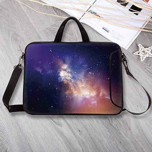 "Space Wear-Resisting Neoprene Laptop Bag,Stars in Sky Supernova Comet Constellation Light Years Meteor Planetary Laptop Bag for Laptop Tablet PC,13.8""L x 10.2""W x 0.8""H ()"