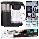 Bonavita BV1901PW Coffee Brewer, Black Includes Handheld Milk Frother, Descaling Powder and Two Mugs with Spoons