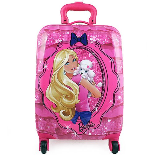 Amazon.com: Barbie Hardshell Rolling Luggage Case [Puppy]: Toys ...