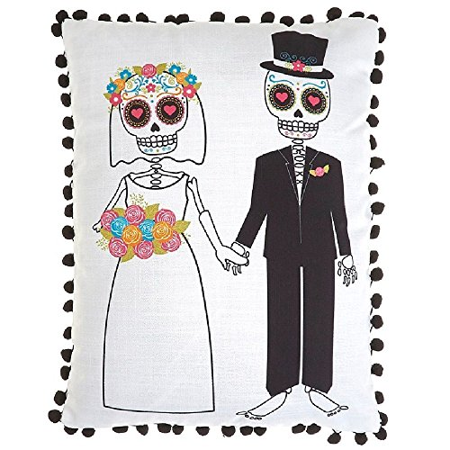 The Day of the Dead Pillow Bride and