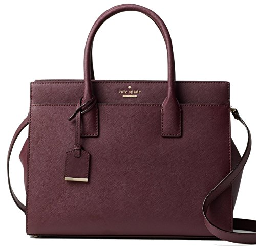 Kate Spade New York Cameron Street Leather Candace Satchel, Purple by Kate Spade New York