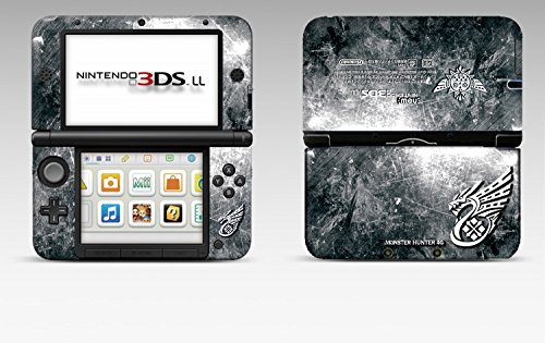Monster Hunter 4G 4 Ultimate Silver Limited Edition VINYL SKIN STICKER DECAL COVER for Nintendo 3DS XL / LL Console System (Nintendo 3ds Xl Monster Hunter 4 Ultimate Edition)