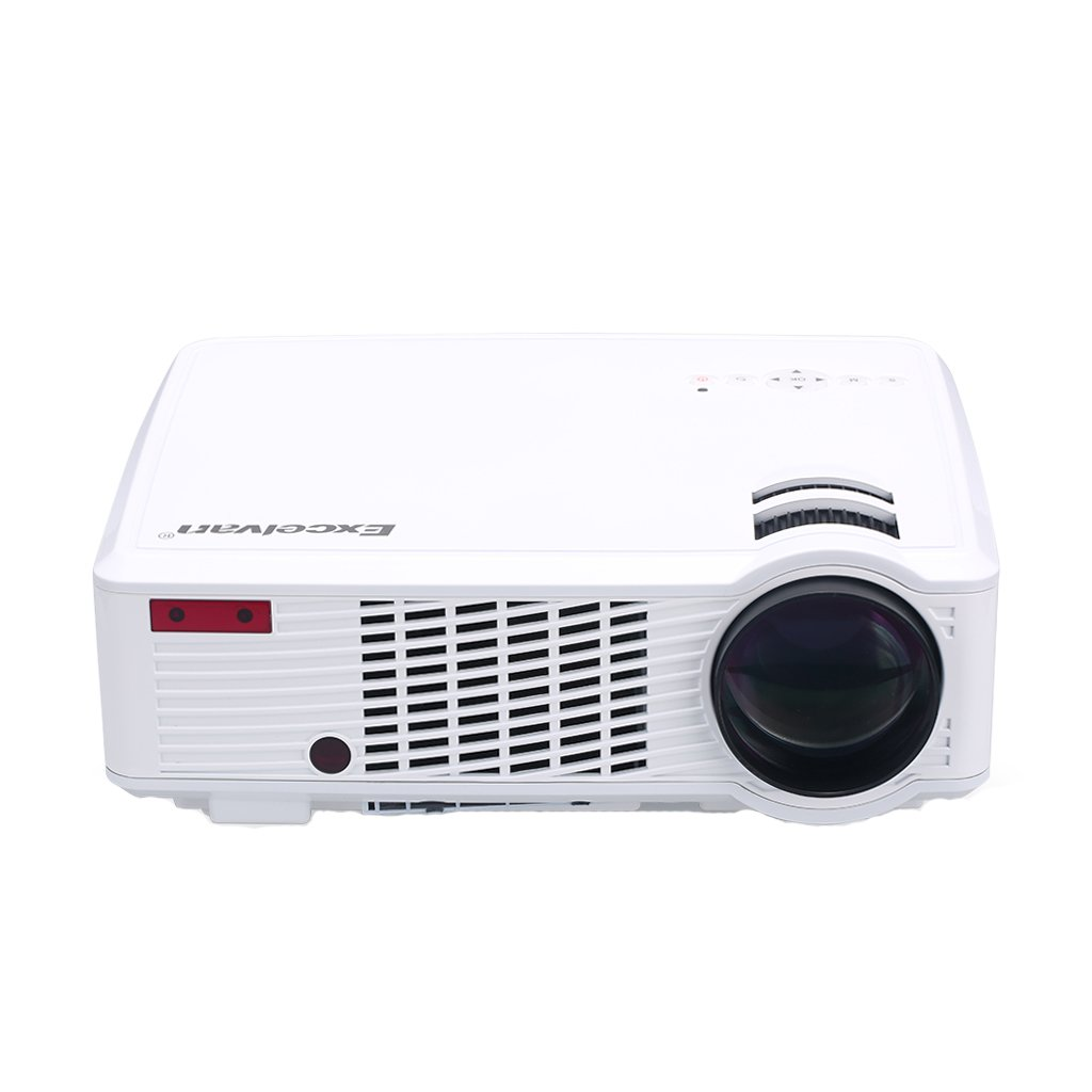 Excelvan LED Multimedia HD 1080p Projector Up to 20,000 Hours LED Lamp Life for Home Theater by Excelvan