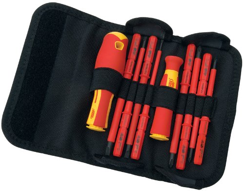 Draper 5721 VDE Interchangeable Insulated Blade Screwdrivers Set (10...