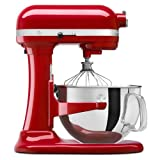 kitchen ad pasta maker - KitchenAid Certified Refurbished RKSM6573ER 6-Qt. Professional Bowl-Lift Stand Mixer - Empire Red