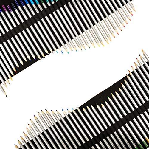 OOKU Watercolor Pencils Artist Set - 72 Dry Coloring Pencils/Wet Watercolor Painting - Bonus Wool Pencil Wrap, Watercolor Brush, Sharpener - Full 75 Piece Kit (36/48/72 Pcs)