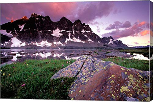 (The Ramparts Viewed in Reflection, Tanquin Valley, Jasper National Park, Alberta, Canada by Gavriel Jecan/Danita Delimont Canvas Art Wall Picture, Gallery Wrap, 26 x 18 inches)