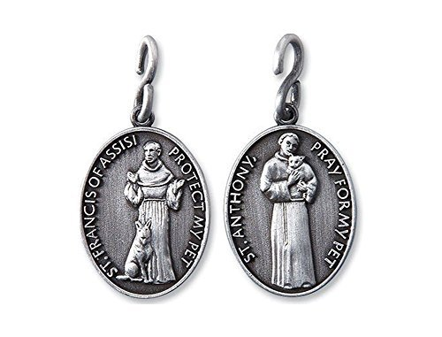 (Religious Gifts Saint Anthony St Francis 1 1/4 Inch Pewter Catholic Christian Pet Collar Medal Pendant)