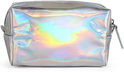 Llwei Hologram - Estuche holográfico con cremallera para guardar láser, maquillaje, color plata: Amazon.es: Oficina y papelería