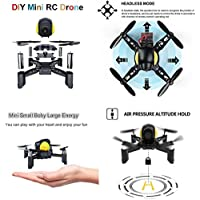 Sahoprt Mini DIY Remote Control RC Pocket Drone Quadcopter Toy For Kid