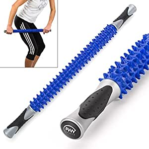"""FWY Muscle Roller Massage Stick for Runners, Athletes, Therapy or Just Relaxation, Great for Back, Foot & Deep Tissue Massage, 23"""""""