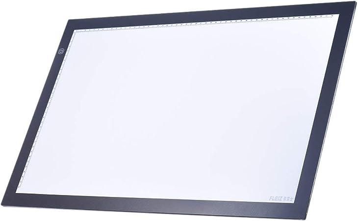Cxjff Dibujo caja A2 luz LED de localización trazador copia del álbum Tabla Pad panel pizarra