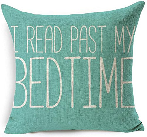 I Read Past My Bedtime Throw Pillow Cover