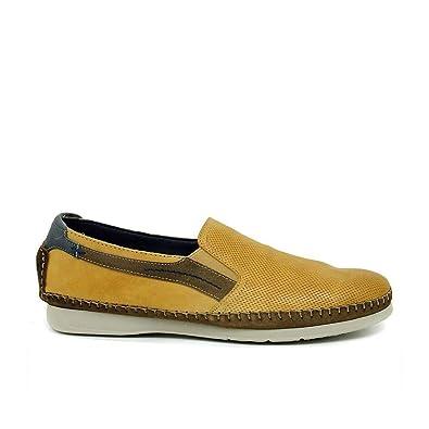 Zapato Fluchos De Piel Mostaza F0198_Surf 43 Amarillo: Amazon.es: Zapatos y complementos