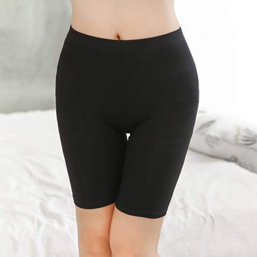 Aimado New Women Solid Comfortable Elastic Waist Underwear Panties Boy Shorts