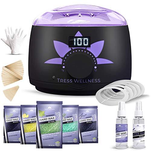 (Home Waxing Kit Wax Warmer Hair Removal Waxing Kit - Professional at Home Waxing Kit - Wax Machine for Body Wax - Hard Wax Kit Wax Pot - Waxing Pot Brazilian Wax Kit - Hard Wax Warmer Wax Heater)
