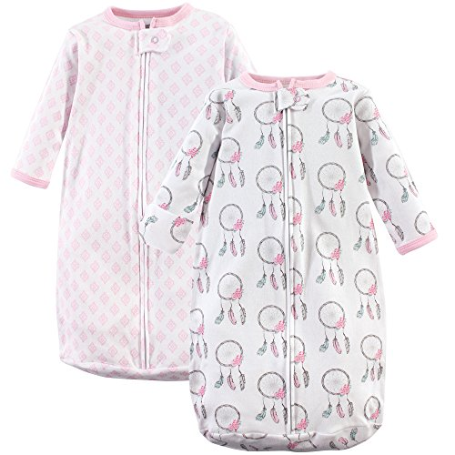 Hudson Baby Unisex Baby Safe Sleep Wearable Long-Sleeve Sleeping Bag, Dream Catcher 2-Pack, 0-3 Months (3M) from Hudson Baby