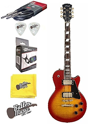 Stagg l500cs LP de madera de cerezo Custom guitarra eléctrica w/EFFIN sintonizador Plus más