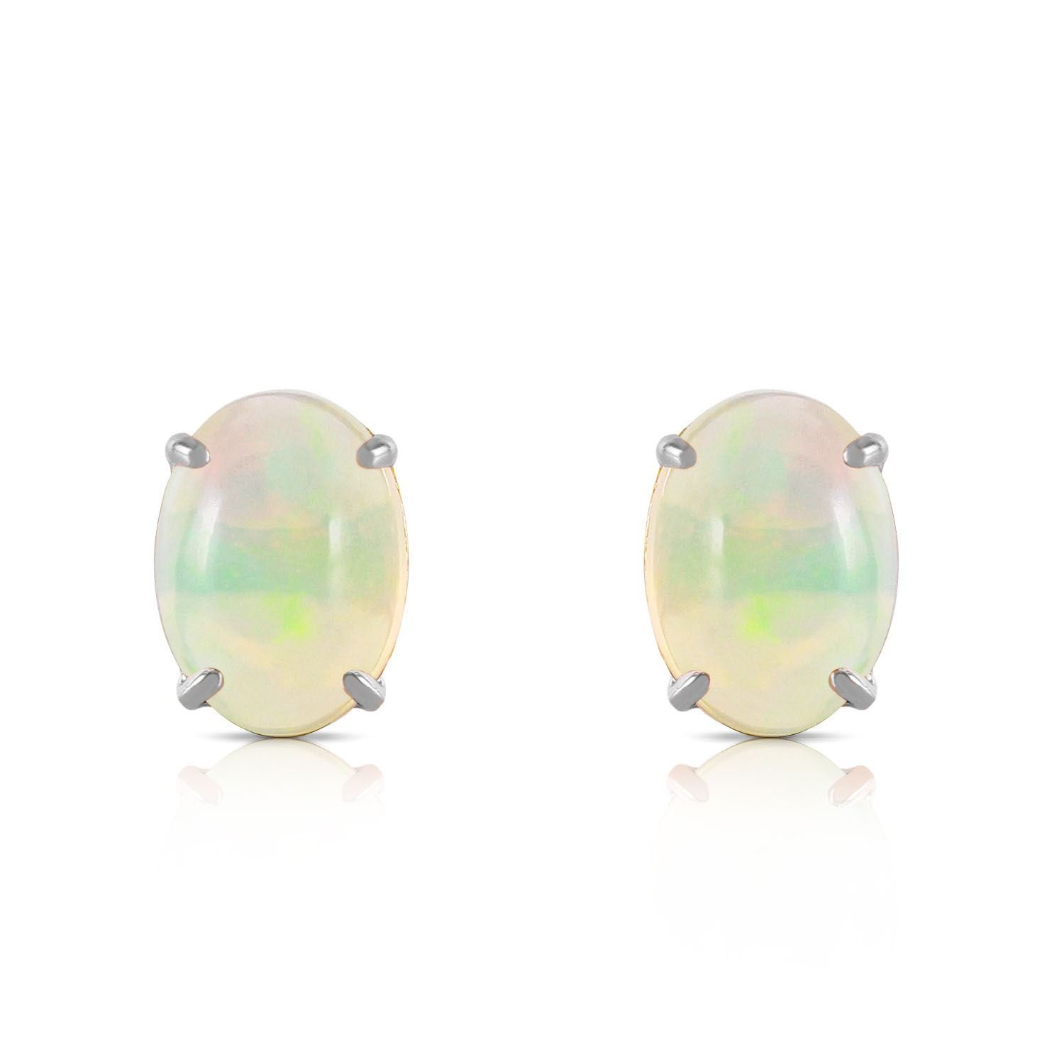 ALARRI 0.9 Carat 14K Solid White Gold Yours To Love Opal Earrings