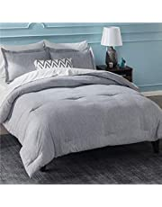 Bedsure Comforter Set Soft Down Alternative Brushed Cationic Dyeing Duvet Insert with Pillow Sham - Lightweight Bedding Set