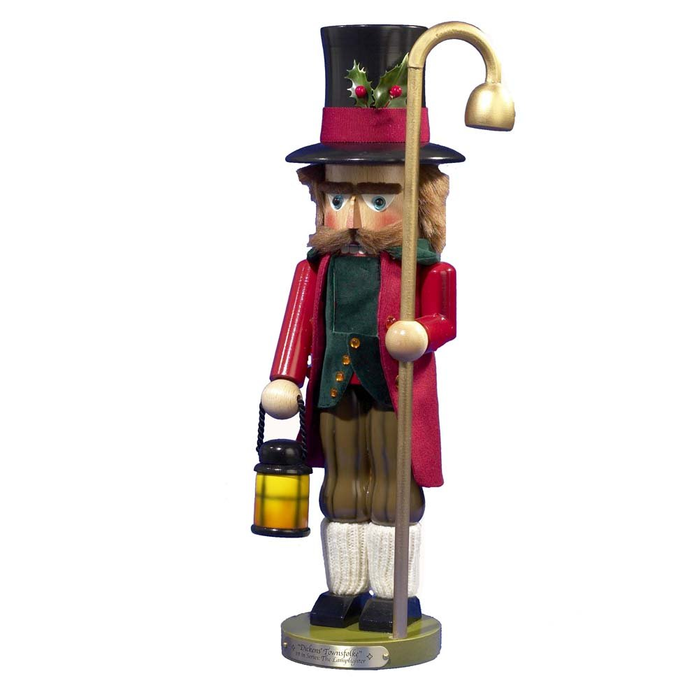 18.5'' Limited Edition Signed Steinbach Dickens Townsfolke Lamplighter Nutcracker
