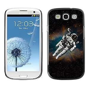 Caucho caso de Shell duro de la cubierta de accesorios de protección BY RAYDREAMMM - Samsung Galaxy S3 I9300 - Cosmonaut Astronaut Skeleton Art Space Travel