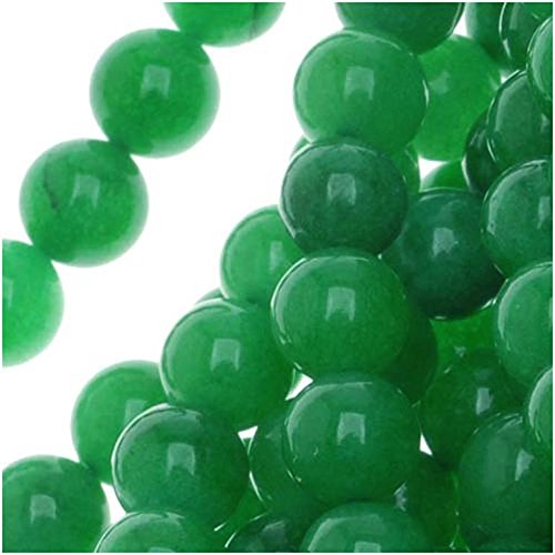 Green Candy Jade 6mm Round Beads / 16 Inch Strand