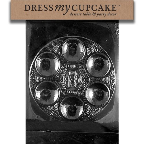 Dress My Cupcake Chocolate Candy Mold, Seder - Candy Plate Melting