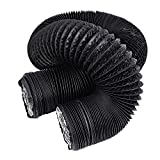 HG POWER Duct Silencer Flexible Ducting Hose Noise Reducer Hose Silencer for Inline Duct Fan (8Inch, Black)