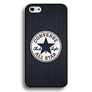 Converse Logo phone Case for Iphone 6 / 6S All Star Black Hard Plastic Cover JM