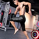 Men's Compression Shorts 3 Packs Soft Cool Dry Sports Tights Shorts for Running,Workout,Training