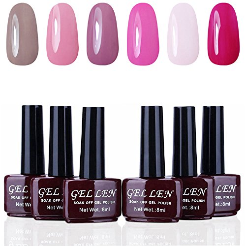Gellen Trendy UV Gel Nail Polish Set, Gentle Grace 6 Colors